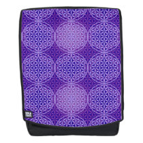 Flower of Life - stamp pattern - purple Backpack
