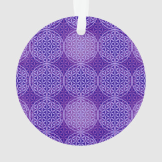 Flower of Life - stamp pattern - purple Ornament