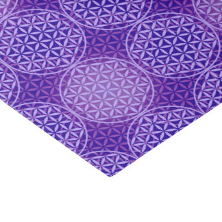 Flower of Life - stamp pattern - purple Tissue Paper