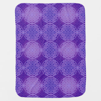 Flower of Life - stamp pattern - purple Baby Blankets