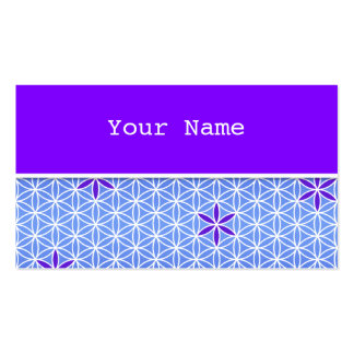 Flower Of Life - stamp seamless pattern - blue Double-Sided Standard Business Cards (Pack Of 100)