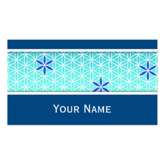Flower Of Life - stamp seamless pattern - cyan Double-Sided Standard Business Cards (Pack Of 100)