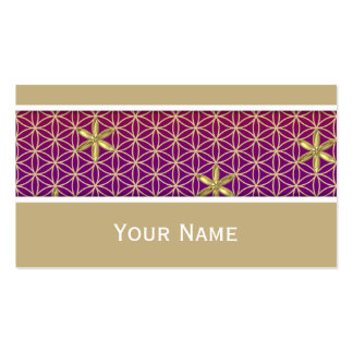 Flower Of Life - stamp seamless pattern - red gold Double-Sided Standard Business Cards (Pack Of 100)
