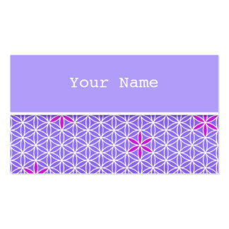 Flower Of Life - stamp seamless pattern - violet Double-Sided Standard Business Cards (Pack Of 100)
