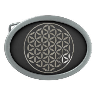 FLOWER OF LIFE - stamp - silver / Blume des Lebens Belt Buckle