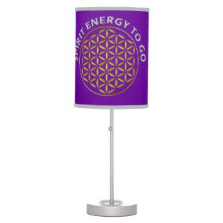 Flower of Life - stamp - spirit energy to go Desk Lamp