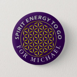 Flower Of Life - stamp - spirit energy to go Pinback Button