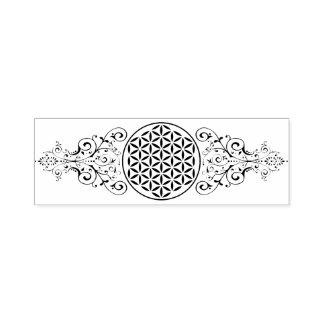 Flower Of Life - stamp vintage ornaments black 1