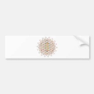 Flower of Life, Tree of Life, Kabbalah, Sephiroth Bumper Sticker