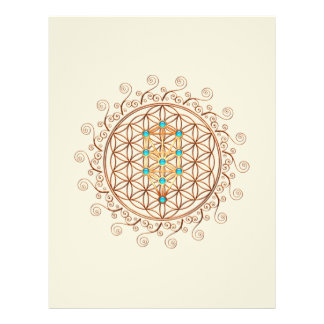 "Flower of Life, Tree of Life, Kabbalah, Sephiroth 8.5"" X 11"" Flyer"