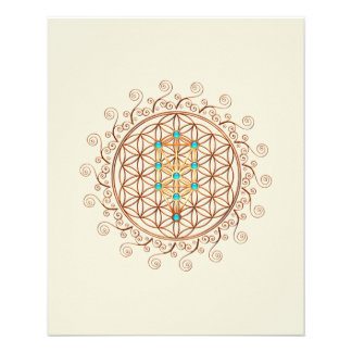 "Flower of Life, Tree of Life, Kabbalah, Sephiroth 4.5"" X 5.6"" Flyer"
