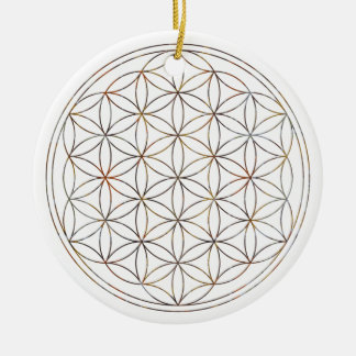 Flower Of Life (V-Elements) Ceramic Ornament