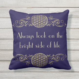 Flower of Life - vintage IV + your message Throw Pillow