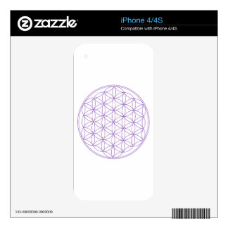 Flower of Life Violet Decal For The iPhone 4