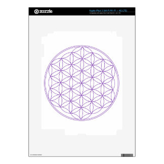 Flower of Life Violet iPad 3 Decals