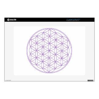 """Flower of Life Violet Skin For 15"""" Laptop"""