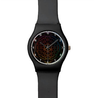 Flower of Life Watch -White brim