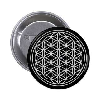 FLOWER OF LIFE - white Pinback Button