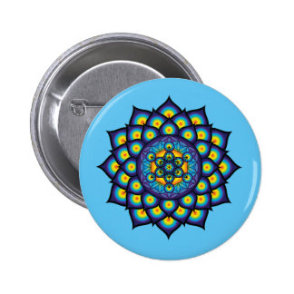 Flower of Life with Metatron's Cube Button