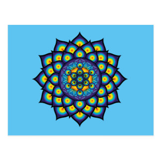 Flower of Life with Metatron's Cube Postcard