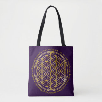 Flower of Life with Moola Mantra Tote Bag