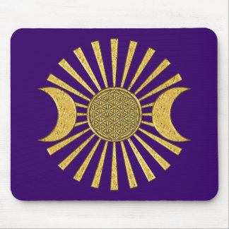 Flower Of Life with Moon Mouse Pad