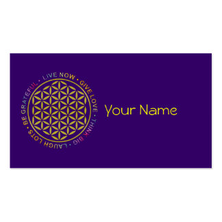 Flower Of Life with Rules Of Life Business Card Template