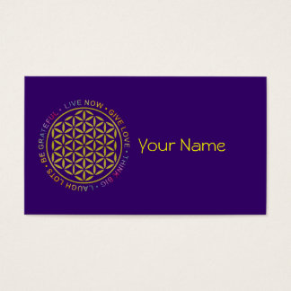 Flower Of Life with Rules Of Life Business Card
