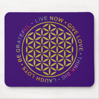 Flower Of Life with Rules Of Life Mouse Pad