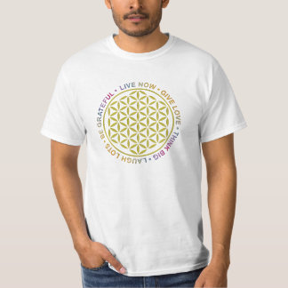 Flower Of Life with Rules Of Life Tee Shirt