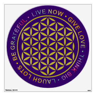Flower Of Life with Rules Of Life Wall Sticker