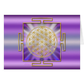 Flower Of Life Yantra Greeting Card
