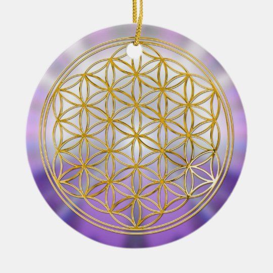 Flower Of Life Yantra Ceramic Ornament