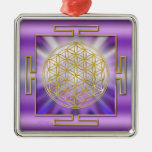 Flower Of Life Yantra Christmas Ornament