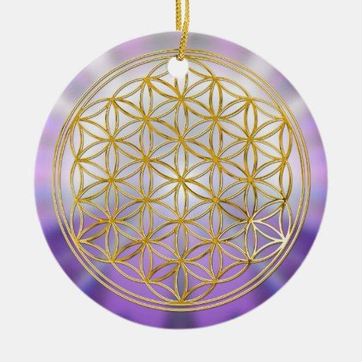 Flower Of Life Yantra Christmas Tree Ornaments