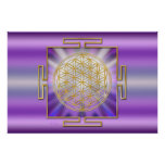 Flower Of Life Yantra Posters