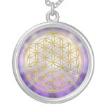 Flower Of Life Yantra Round Pendant Necklace