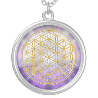 Flower Of Life Yantra Silver Plated Necklace