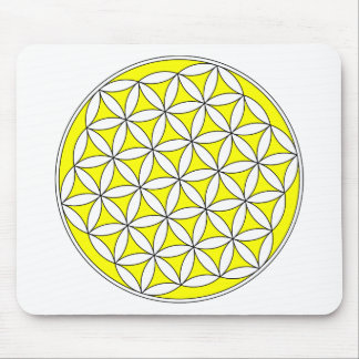 Flower of Life Yellow Mouse Pad