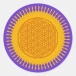Flower Of Life - yellow sunny Sticker