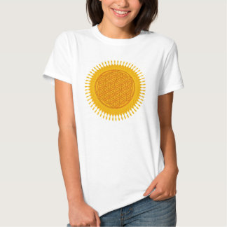 Flower Of Life - yellow sunny T Shirt