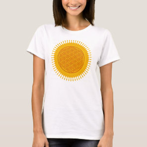 Flower Of Life - yellow sunny T-Shirt