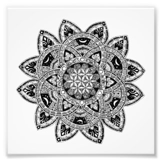 Flower of Life zendoodle Photo Print