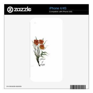 Flower of LIght Decal For iPhone 4
