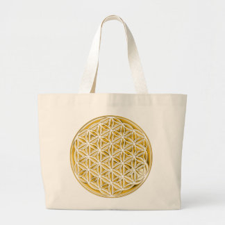 Flower Of Live / full gold Canvas Bags