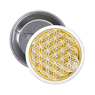 Flower Of Live / full gold Pinback Buttons