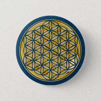 Flower Of Live / full gold Button