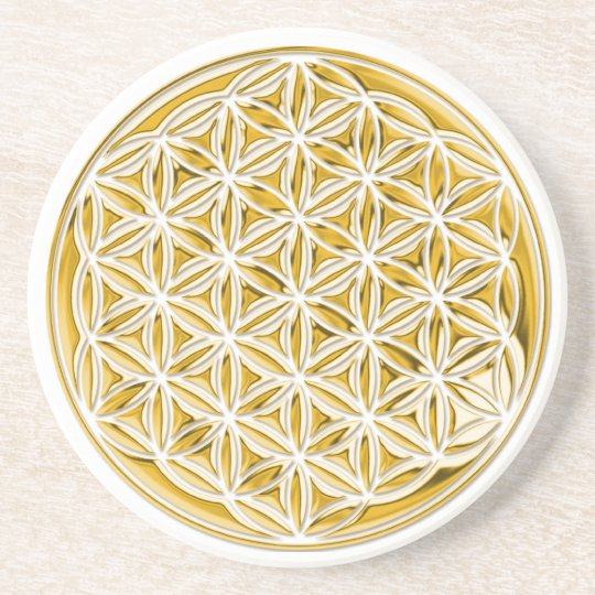 Flower Of Live / full gold Drink Coaster