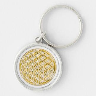 Flower Of Live / full gold Keychain
