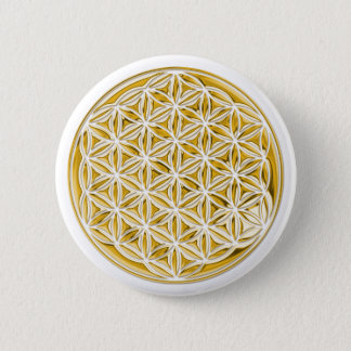 Flower Of Live / full gold Pinback Button